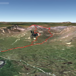 3D-vy av toppturen, från Google Earth