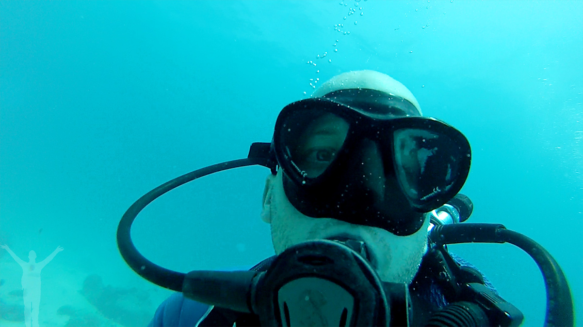Dykning vid Mnemba-atollen utanför Zanzibars kust