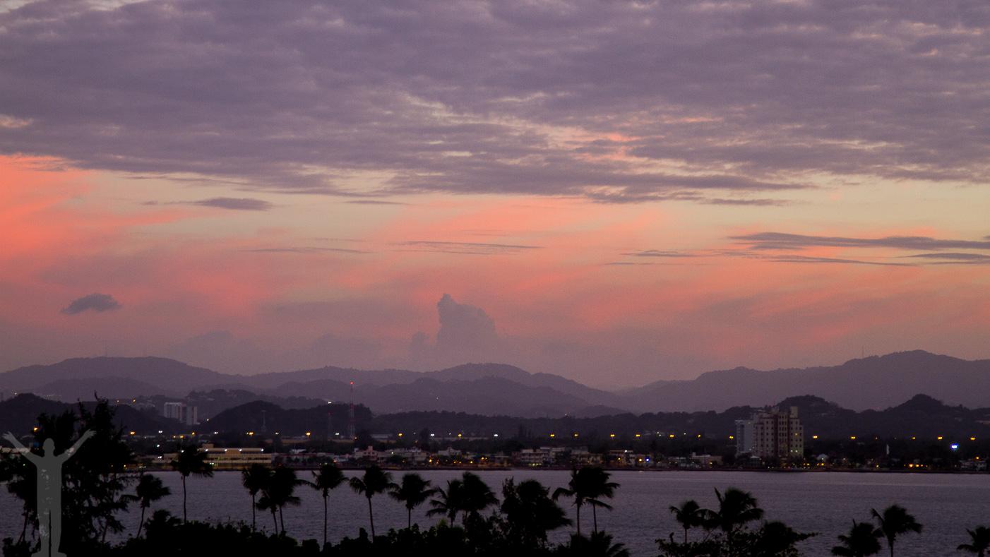 Solnedgång i San Juan