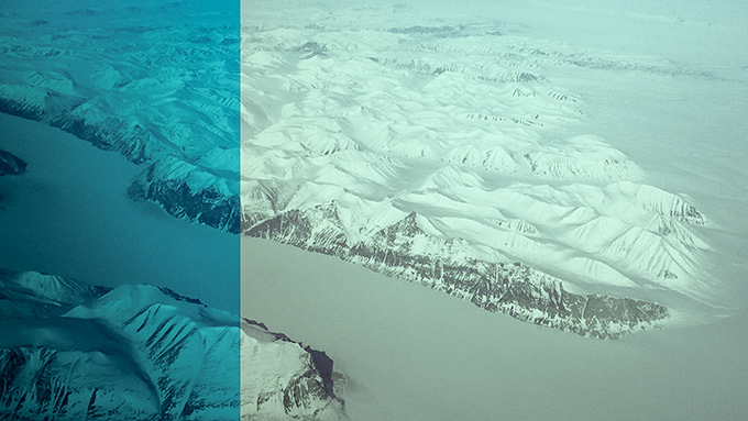 Grönland från Dreamliner