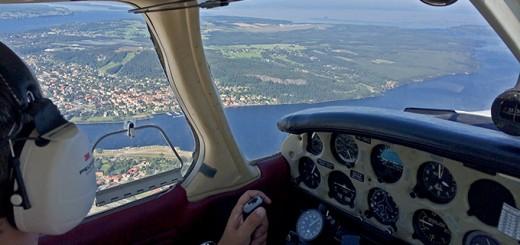 Flygfoto över Östersund