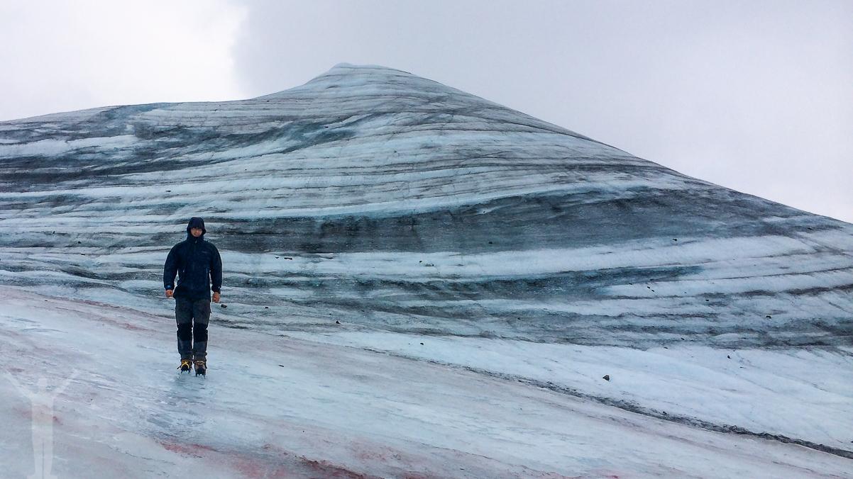 Jag själv på Kebnekaises toppglaciär