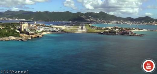 Landing in ST MAARTEN (SXM)