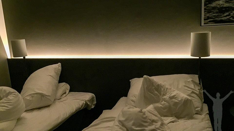 Sängarna var supersköna!
