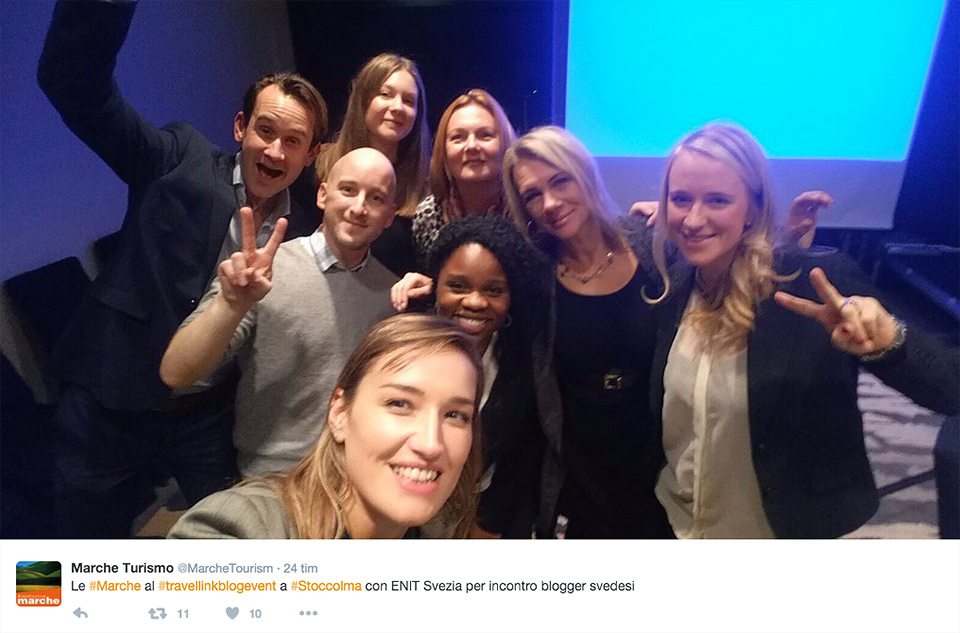 Le Marche och några svenska resebloggare.