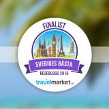 Finalist som Sveriges bästa reseblogg