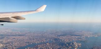 A340 take off över Manhattan