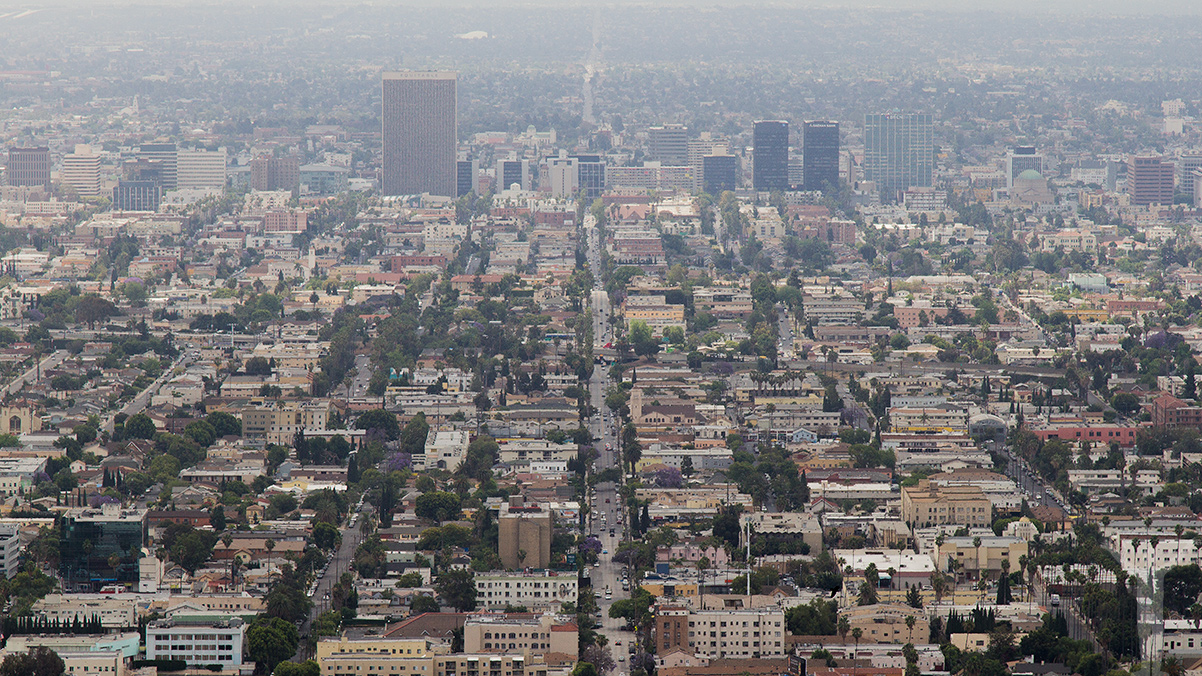 Storstadens brus i Los Angeles