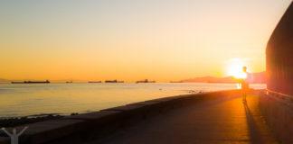 Solnedgång i Vancouver