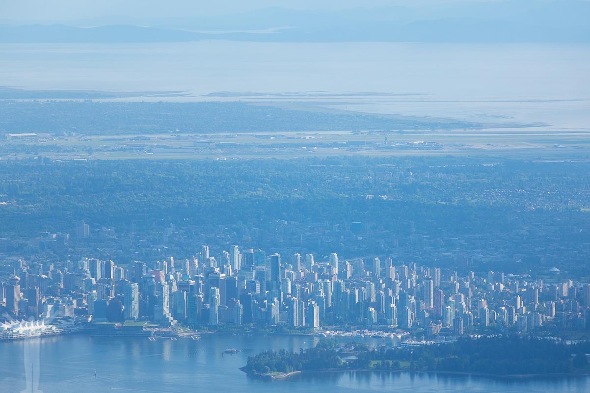 Vancouver downtown, Stanley Park och flygplatsen