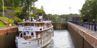 Juno i Trollhättans slussar