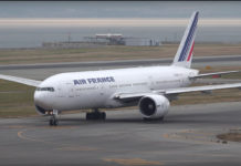 Österut i Air France Boeing 777-200ER