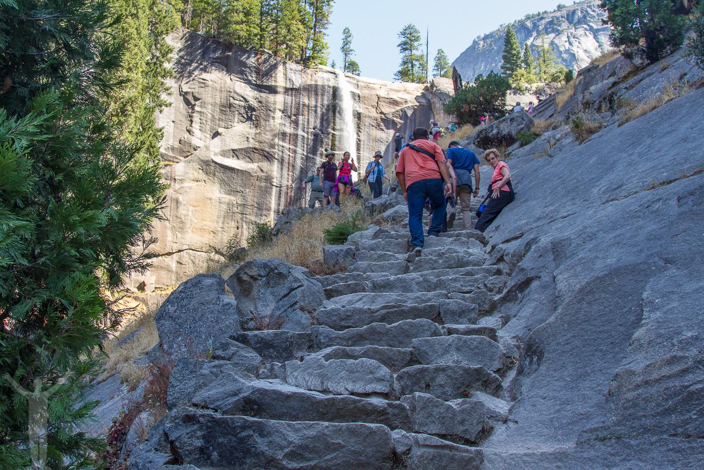 Mist Trail och trappor