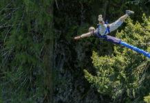 Bungy jump i Whistler i Kanada
