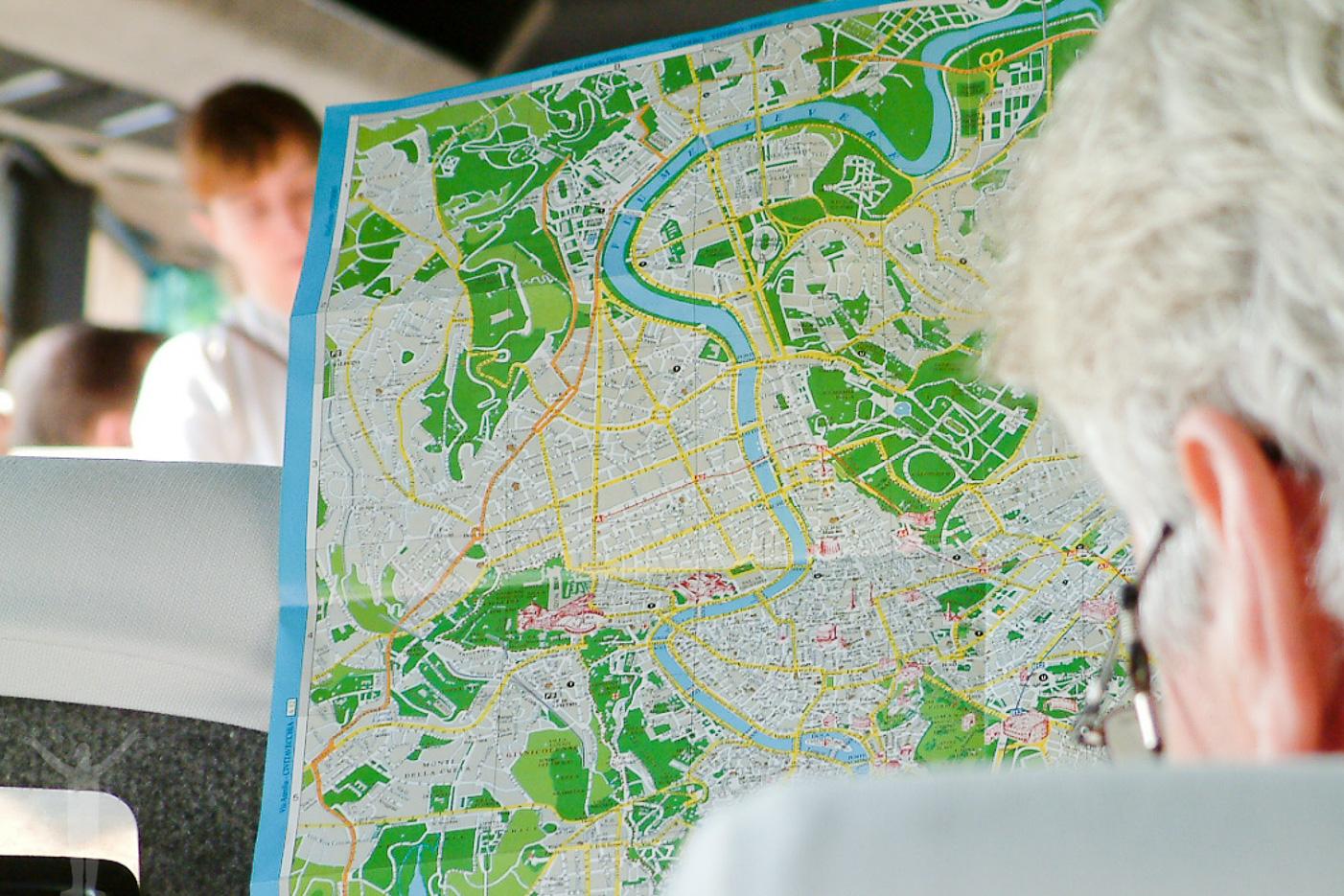 Karta över Rom