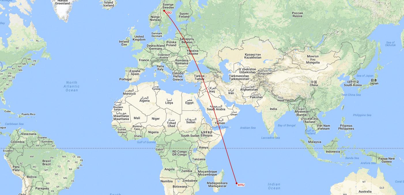 Kommande resa - Mauritius