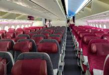 Qatar Airways - interiör