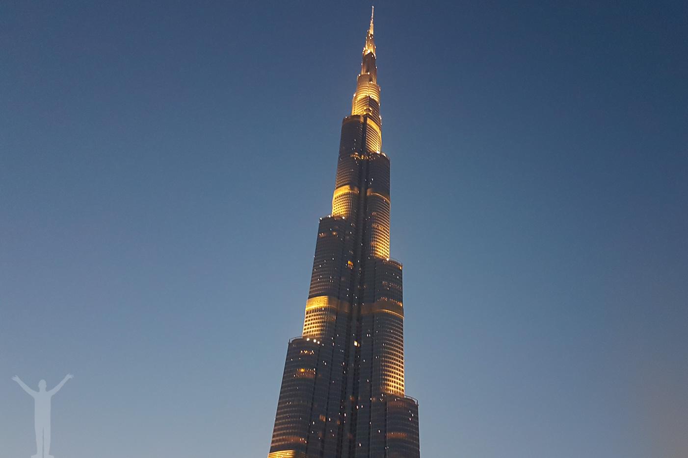 Skymning vid Burj Khalifa