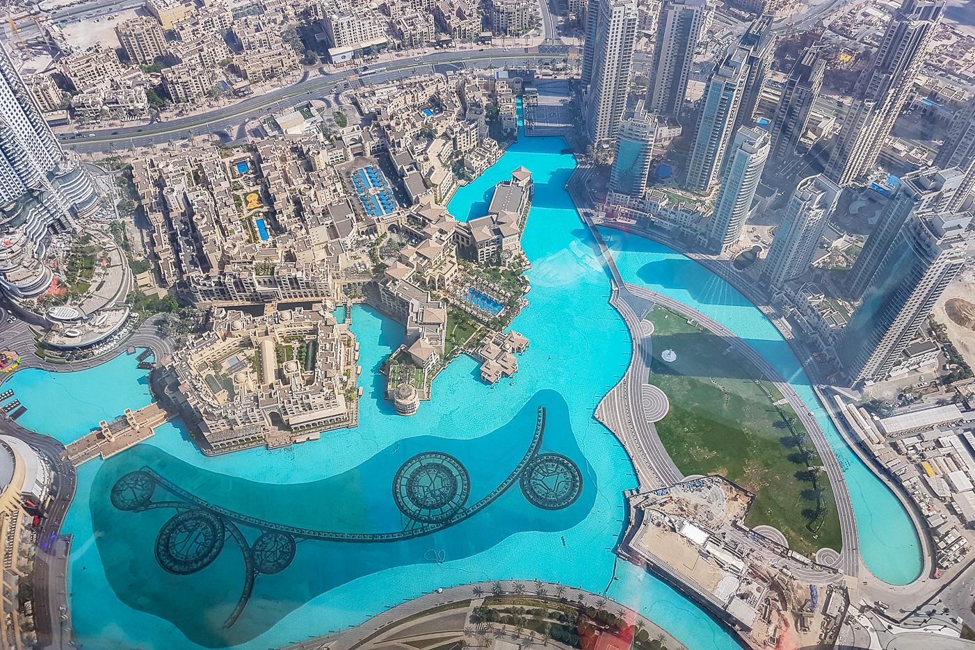 Fontänen nedanför Burj Khalifa