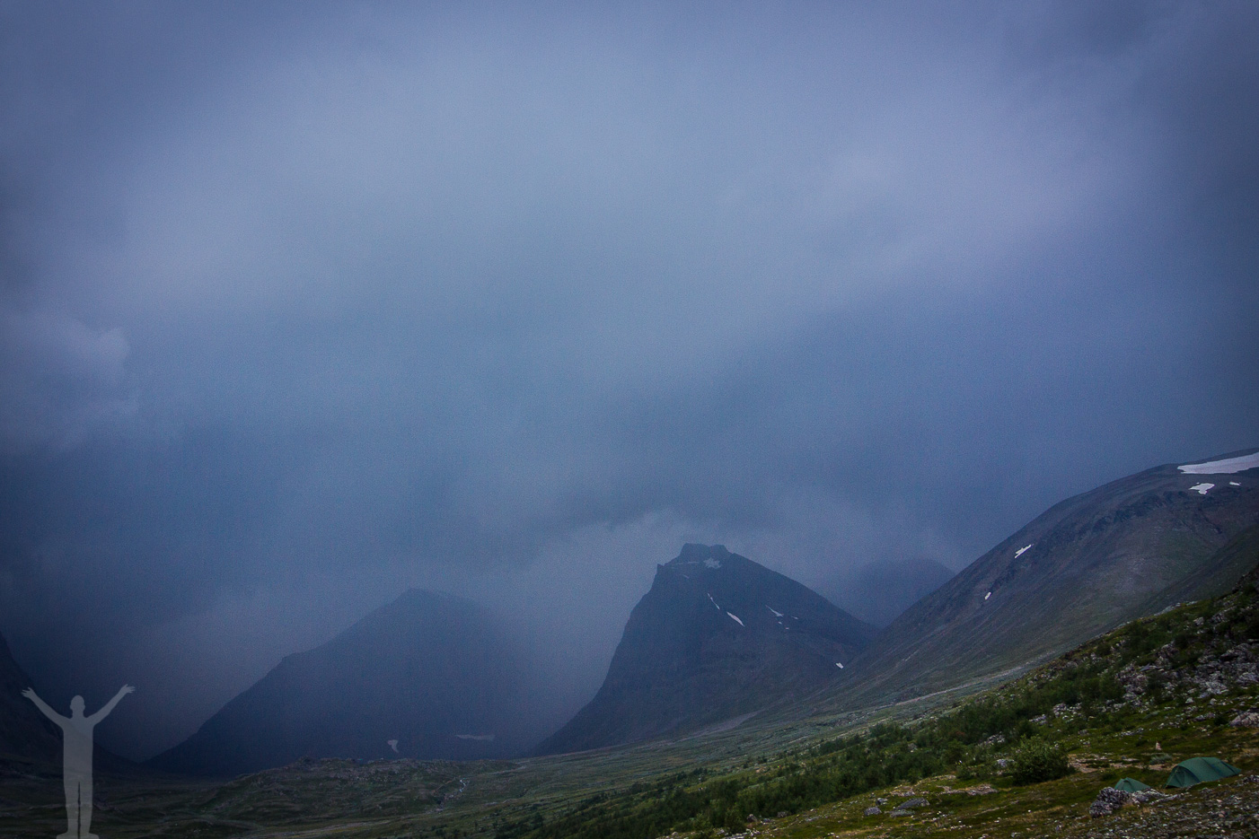 Dåligt väder vid Kebnekaise