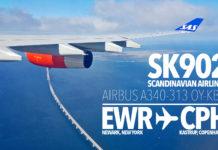 SAS från Newark - SK902 EWR till CPH