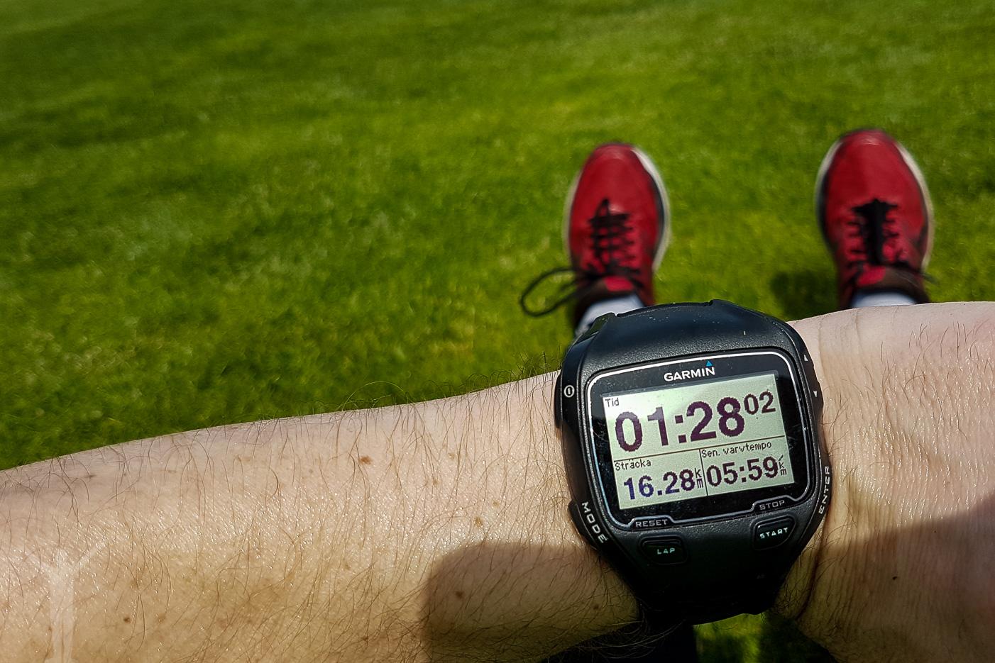 Post-race och GPS-klocka