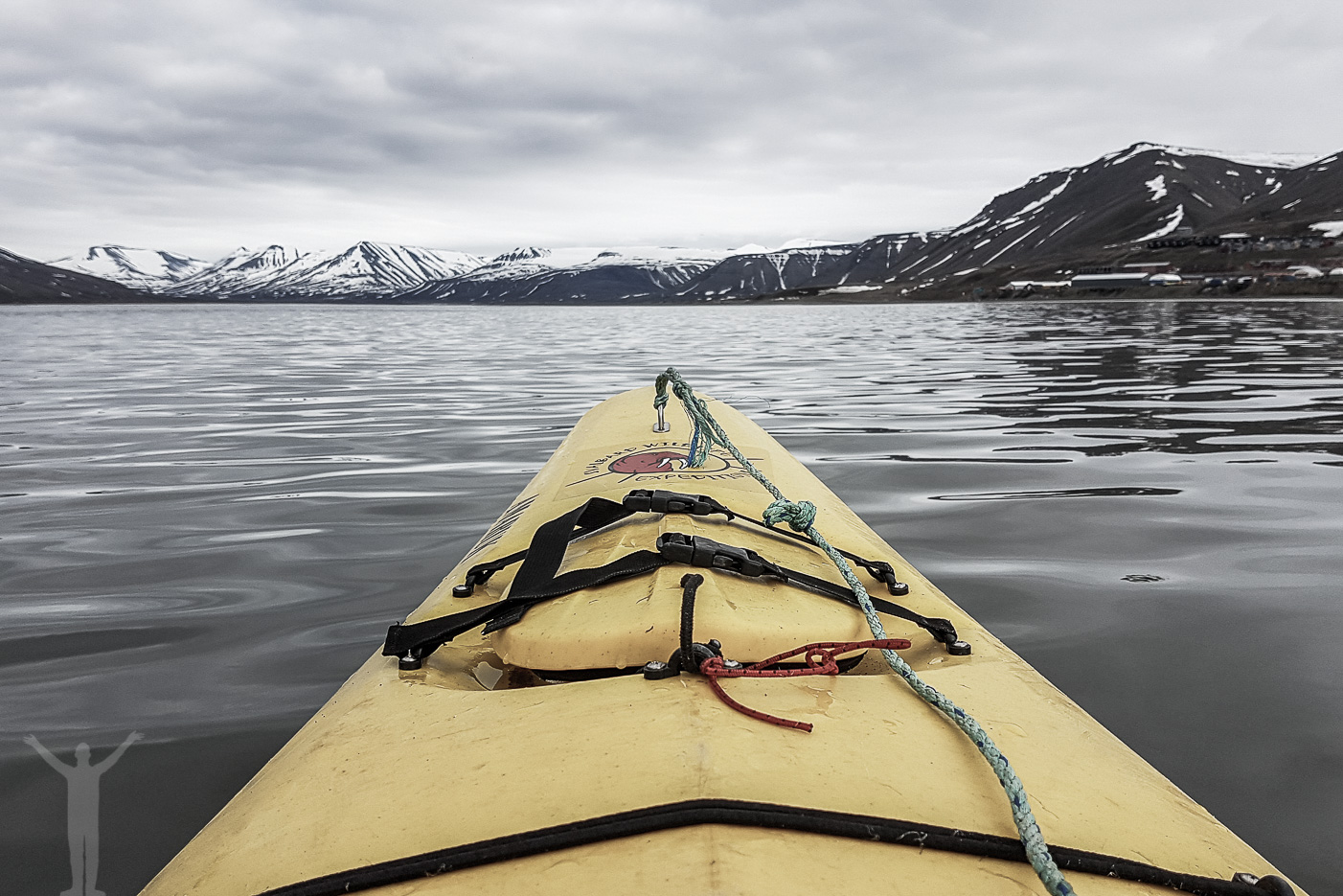 Paddla kajak på Svalbard