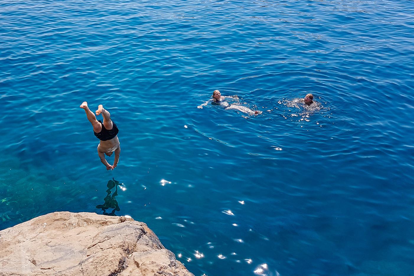 Ett dopp i Adriatiska havet