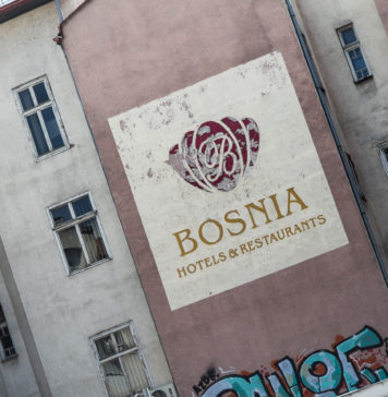 Husfasad i Sarajevo