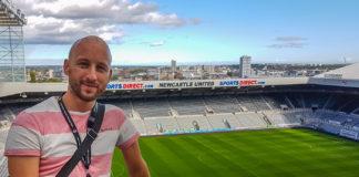 Jag själv på St James' Park i Newcastle