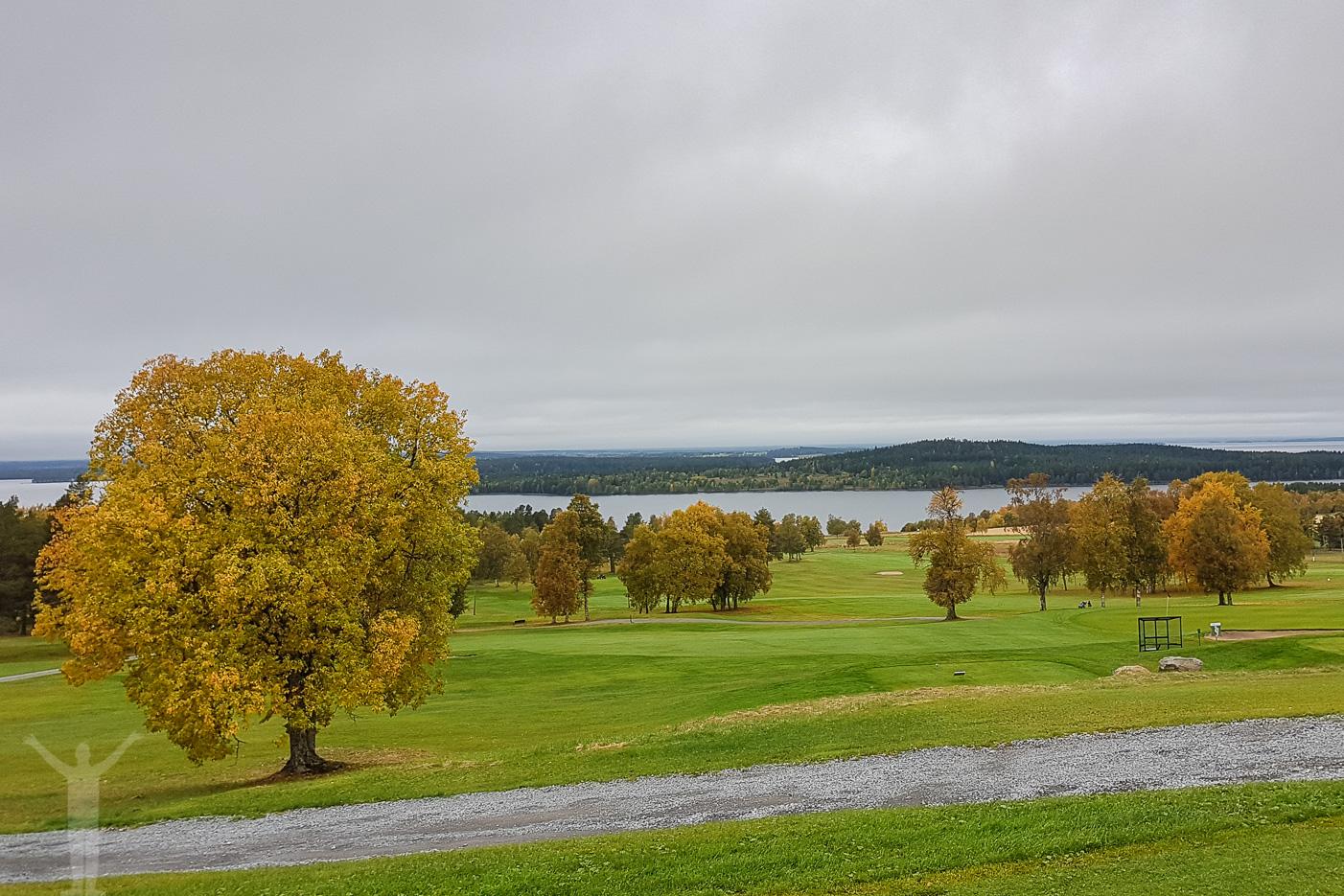 Golfbanan på Frösön med fantastisk utsikt