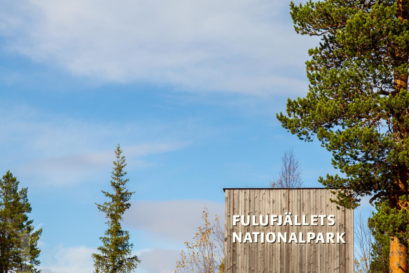 Entrén till Fulufjällets nationalpark