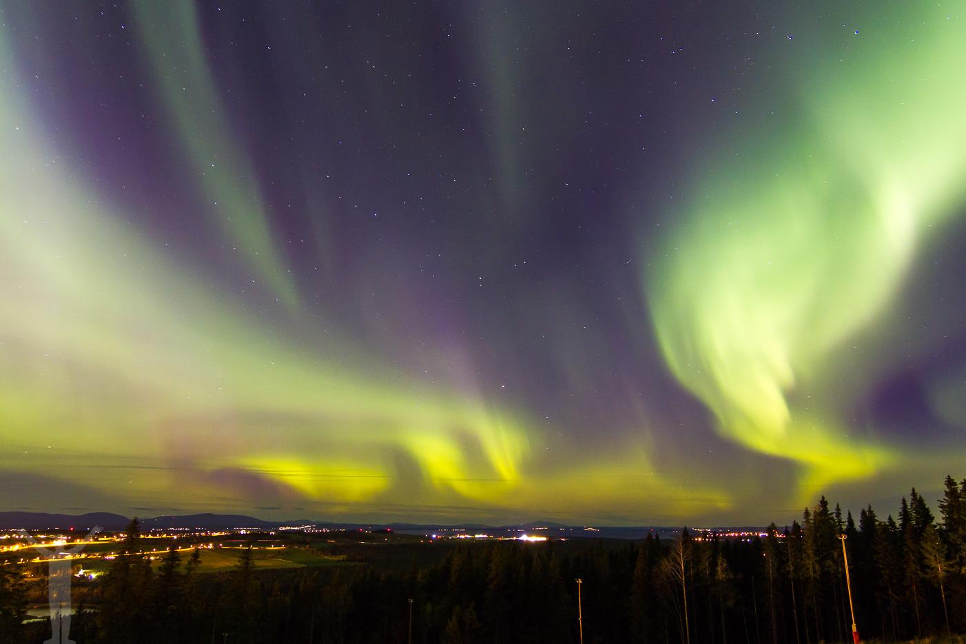 Norrsken ovanför Jämtland