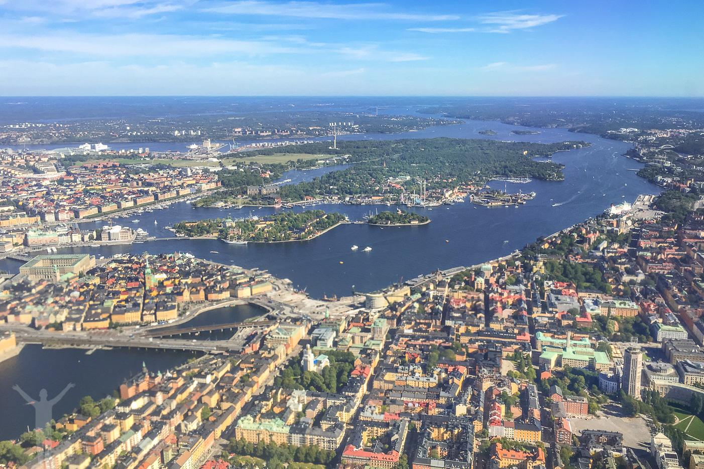 En av många upplevelser att ge bort - ballongfärd över Stockholm