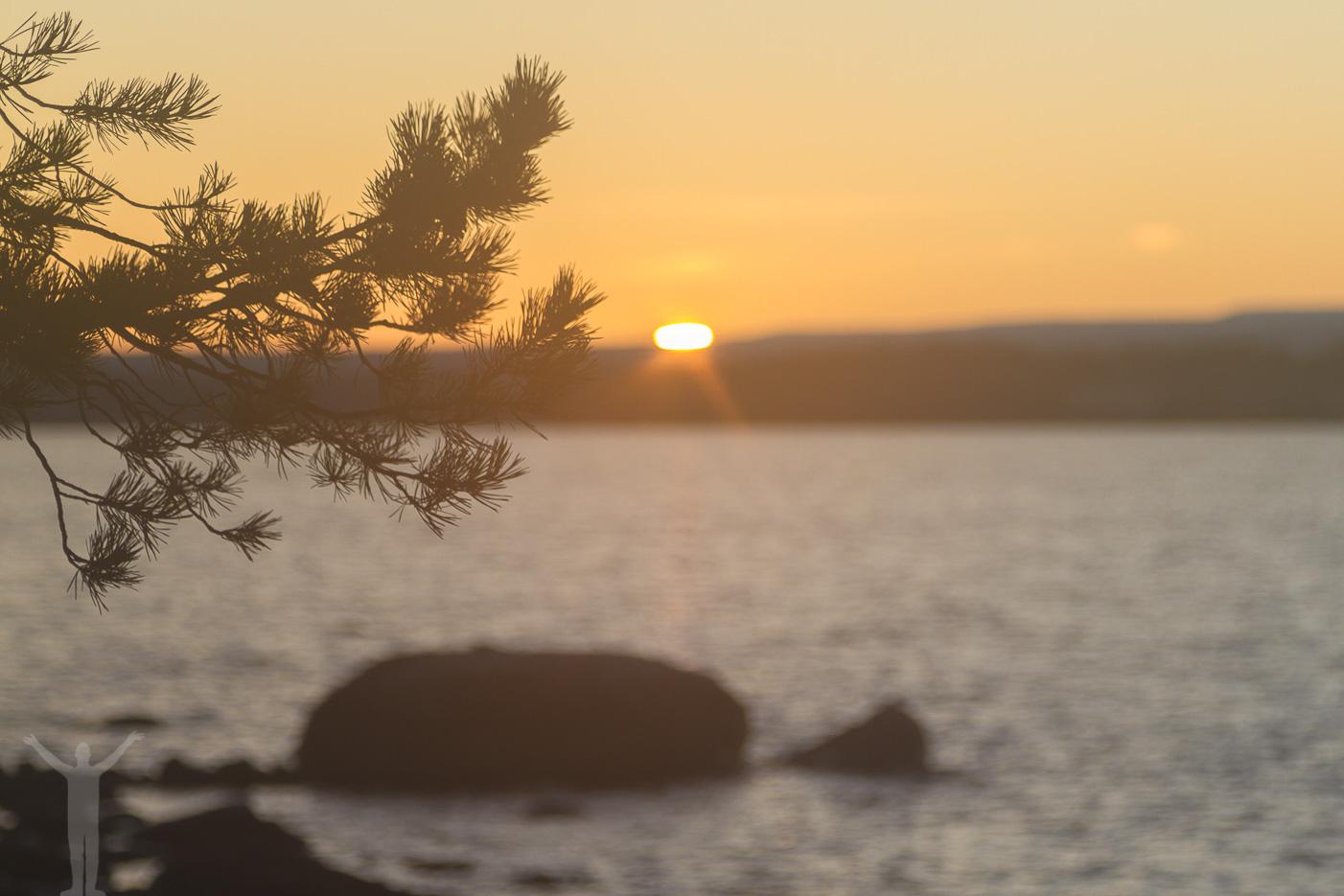 Solnedgång på Andersön