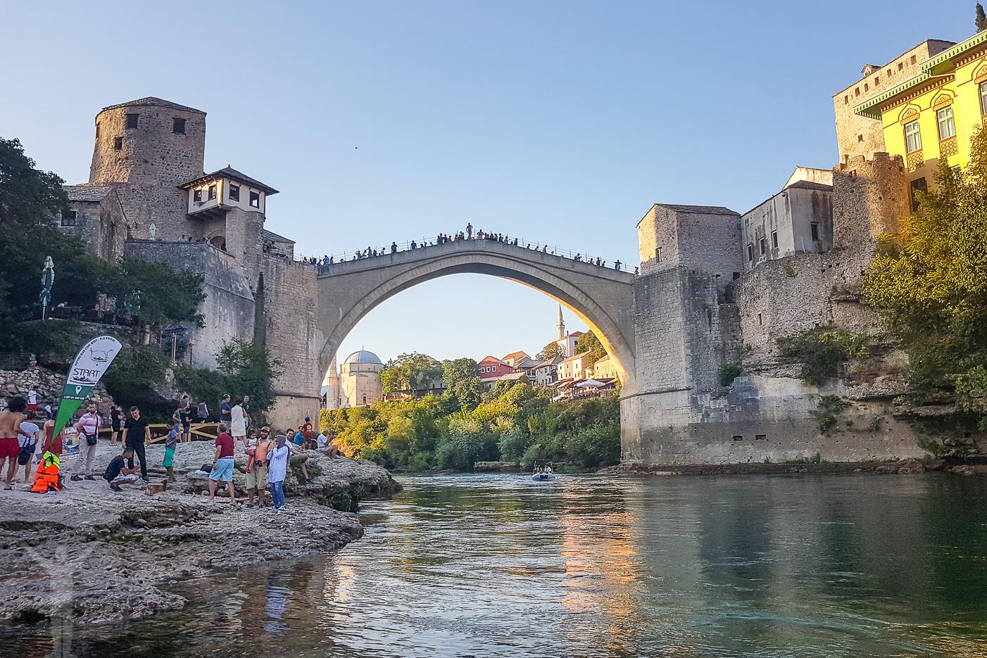 Stari Most i skymningen