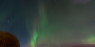 Norrsken ovanför Östersund