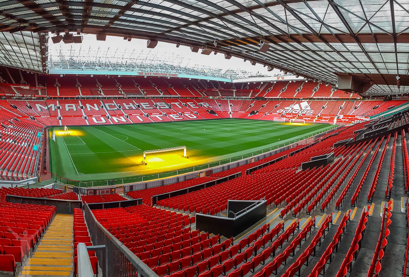 Panorama över Old Trafford, Manchester