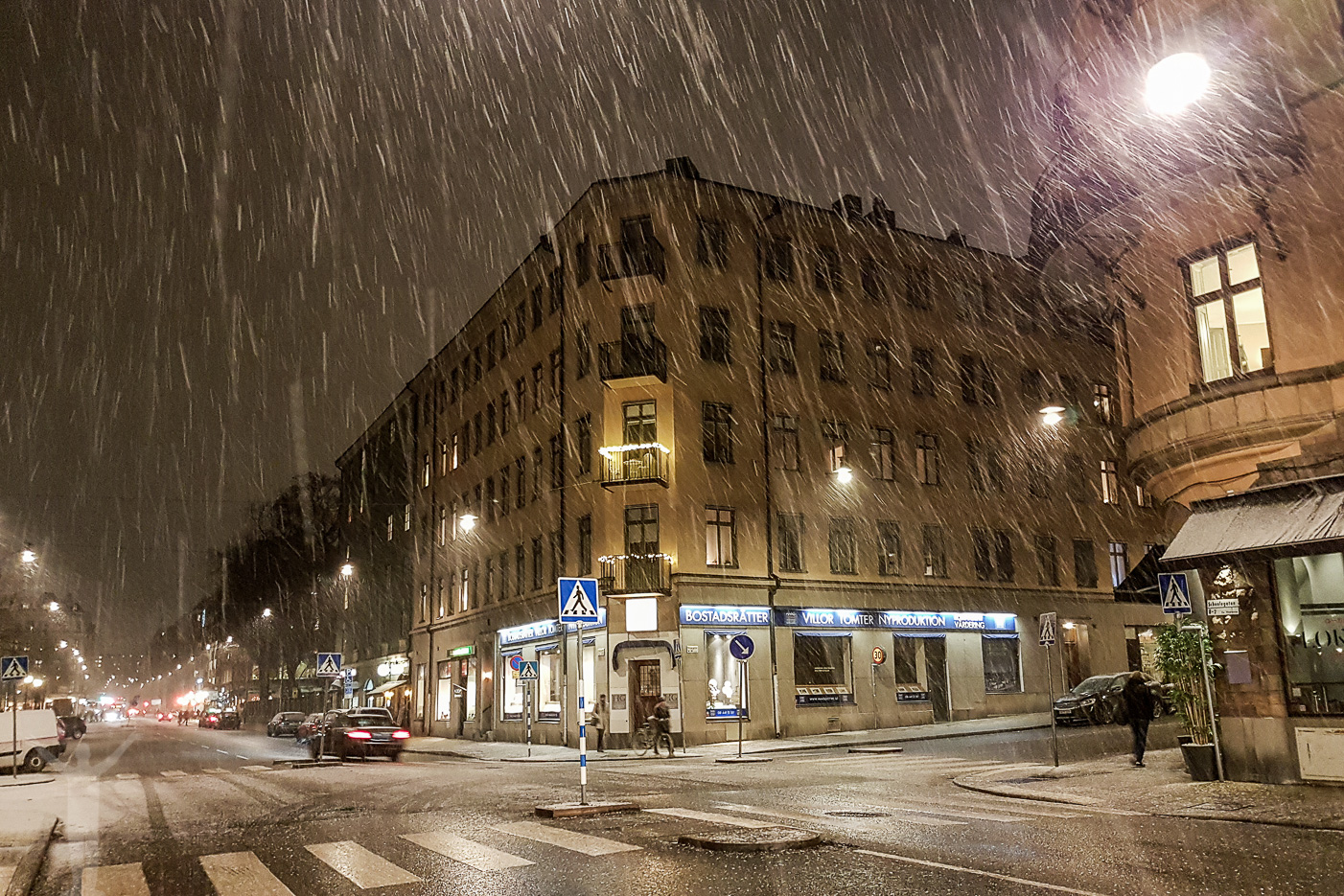 Snöslaskigt Stockholm