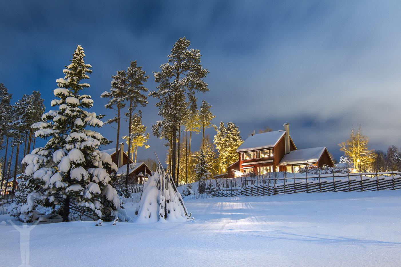 Vinterkväll på Frösön