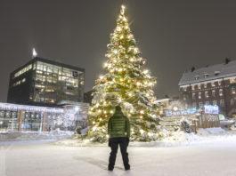 Julgranen på Stortorget i Östersund