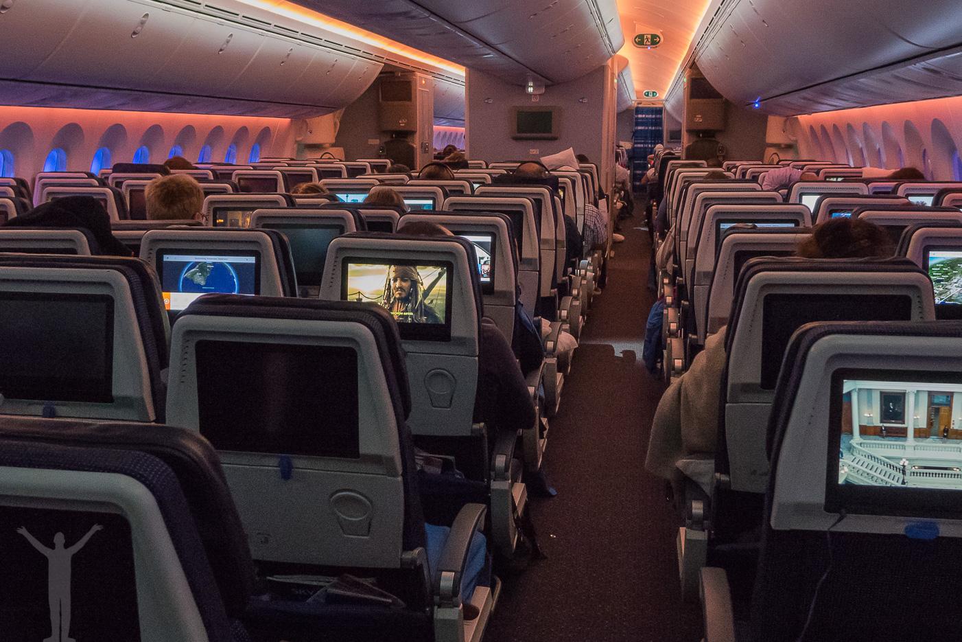 KLM Dreamliner - ekonomiklass