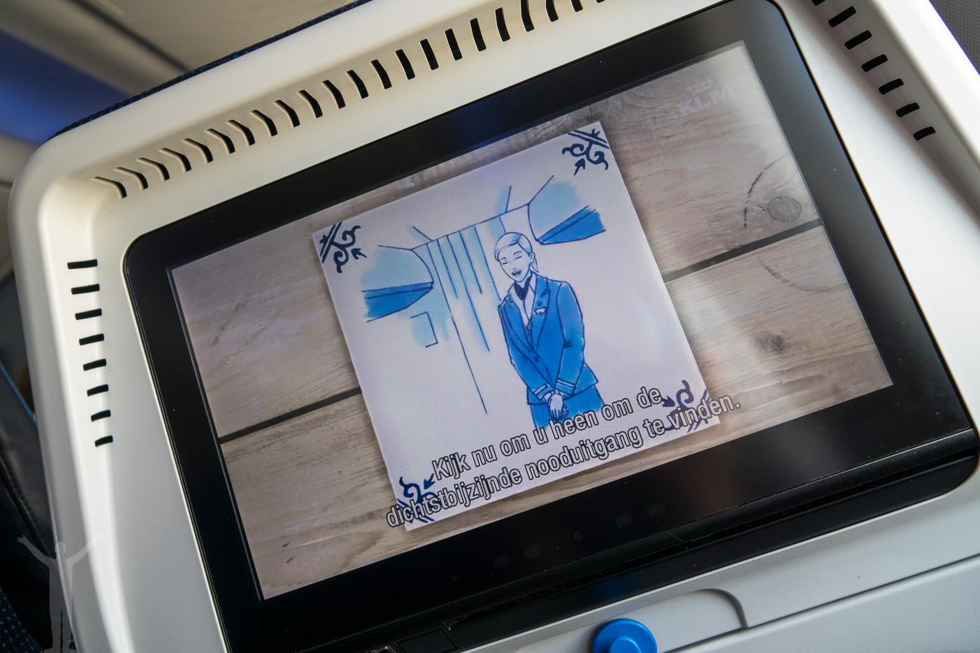 KLM säkerhetsvideo
