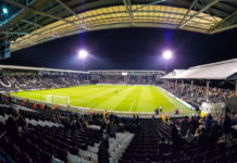 Panoramabild över Craven Cottage