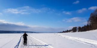 Längdskidåkning på Storsjön