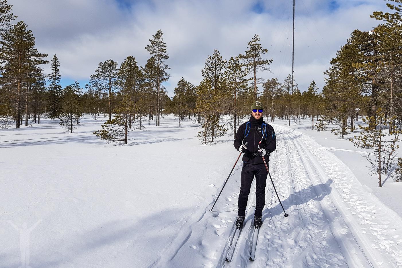 Längdskidåkning vid Svartsjöarna