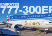 Emirates EK158 - ARN-DXB