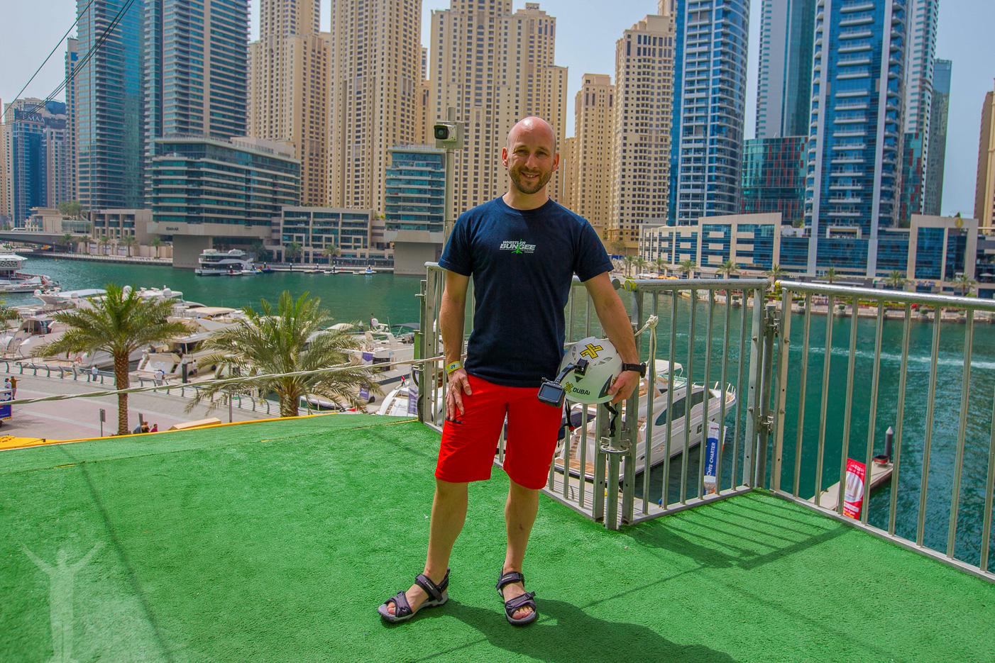 Dryden har testat zipline i Dubai Marina