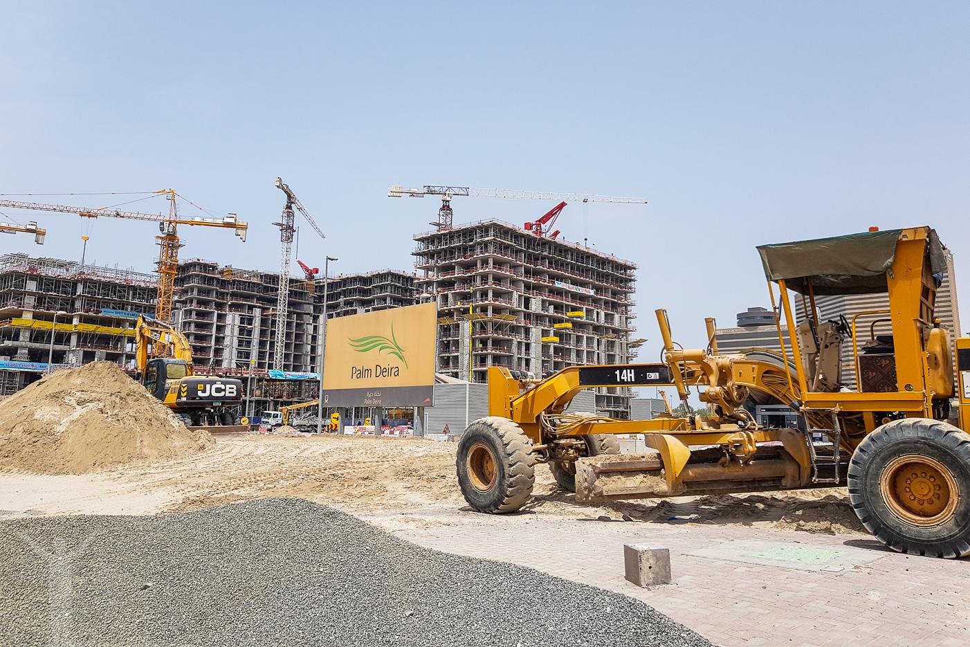 Byggarbetsplats i Dubai