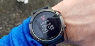 Längsta löpningen med min Garmin Fenix 5